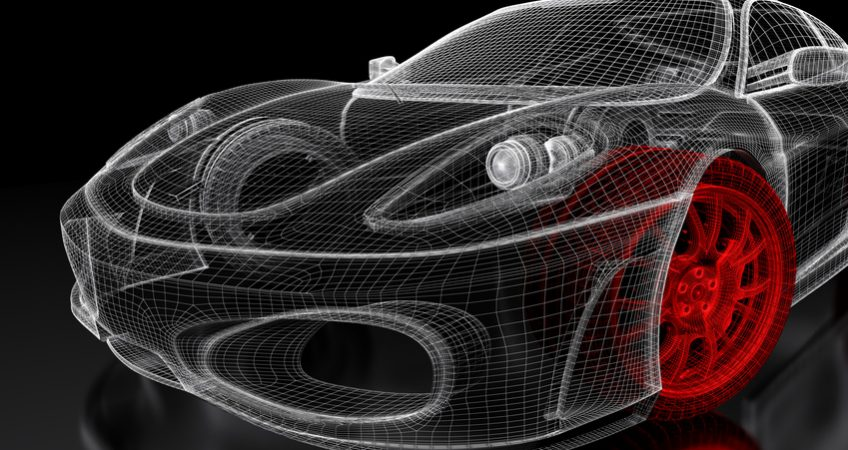 3D car mesh